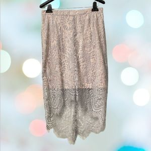 Lulu's Lace High low Skirt